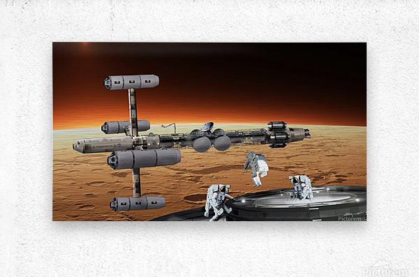 Copernicus at Mars  Metal print