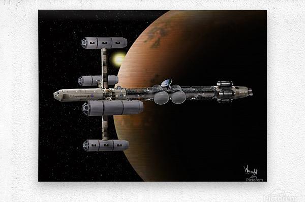 Copernicus in Mars Orbit  Metal print