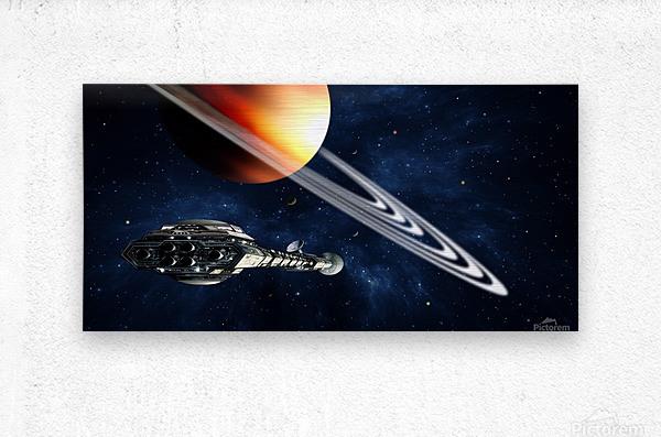 Saturn Fly-By  Metal print
