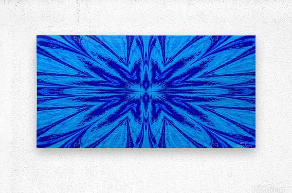 A Blue Wildflower 4  Metal print