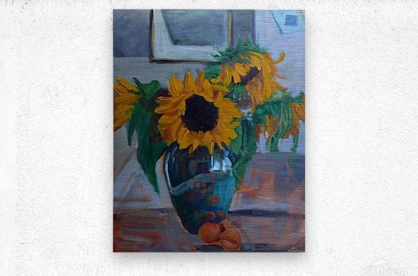 sunflowers home  Metal print