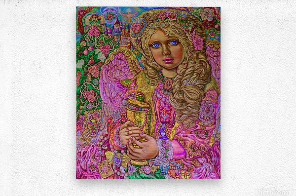 Yumi Sugai. An angel of Christmas of the jewel   Metal print