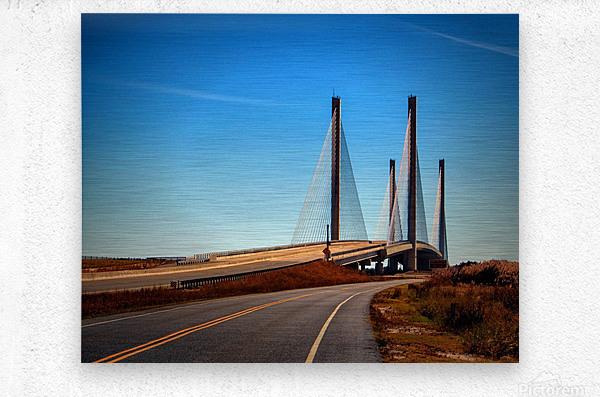 Indian River Bridge North Approach  Metal print