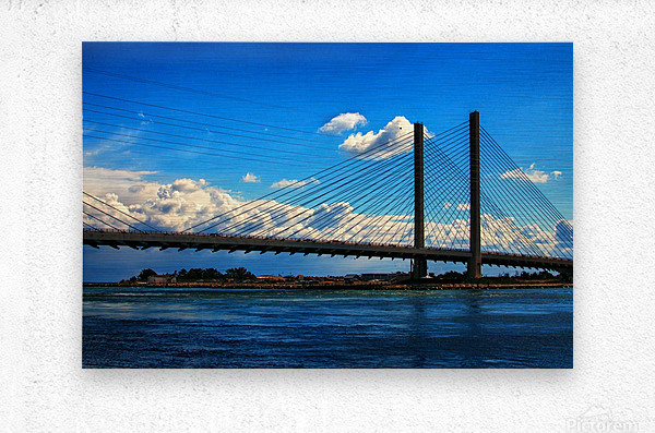 South Stanchions of the Indian River Inlet Bridge  Metal print