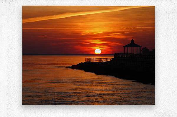 Sunset Over Indian River Inlet And Bay  Metal print