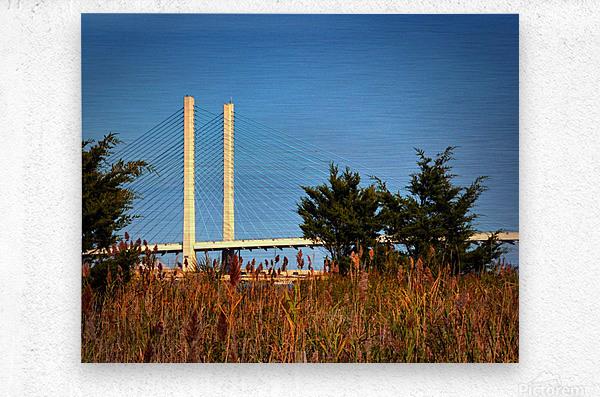 Indian River Bridge Stanchions Standing Tall  Metal print