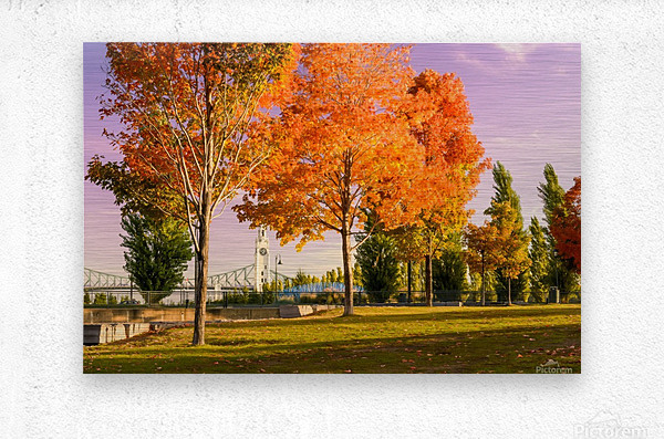 Autumn In The Old Port Of Montreal  Metal print