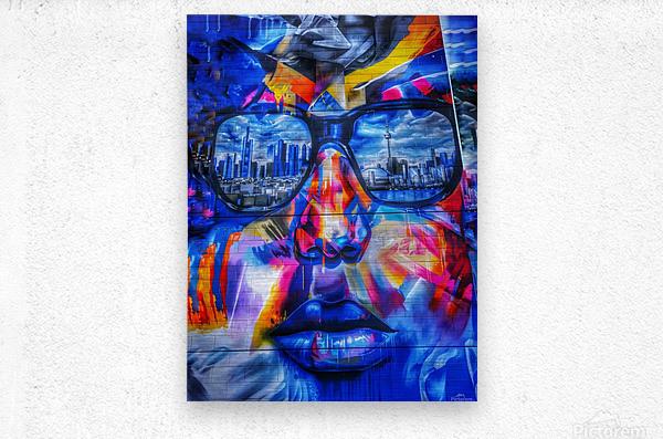 Graffiti Face - Toronto  Metal print