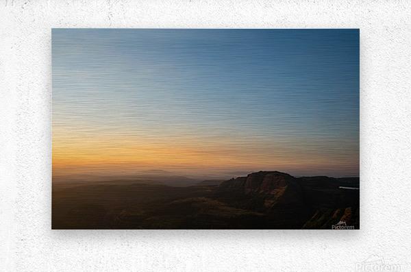 Calming Sunset  Metal print