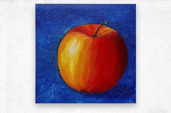 Red Apple - Still Life Painting  Metal print