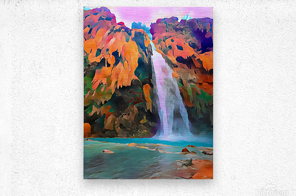 Havasupai Waterfall  Metal print