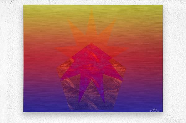 Polygon & Star V4  Metal print