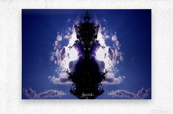 blue 2  Metal print