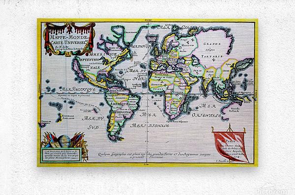 Ancient World Map 4  Metal print