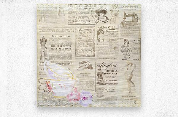 newsprint background  Metal print