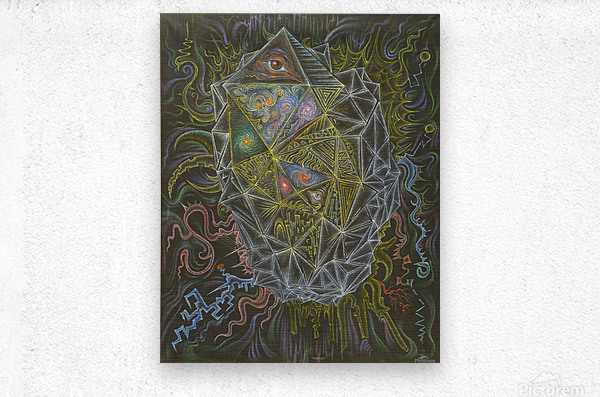 Deity_From_The_Abyss  Metal print