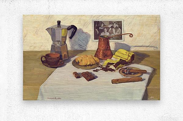 Still_Life_With_Coffee_50x80  Metal print