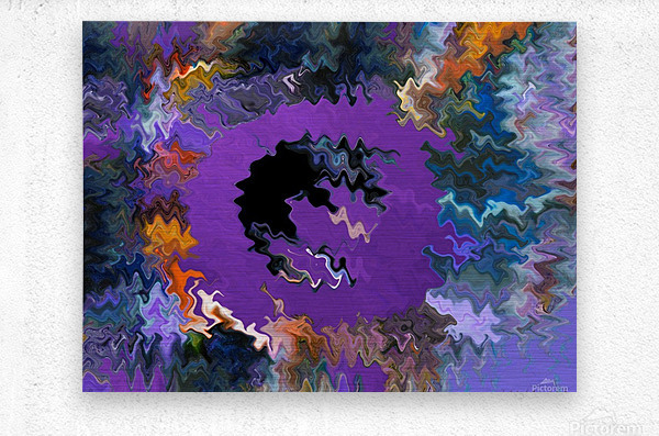 Modern art living room digital art artist Ron Malestein - 450  Metal print