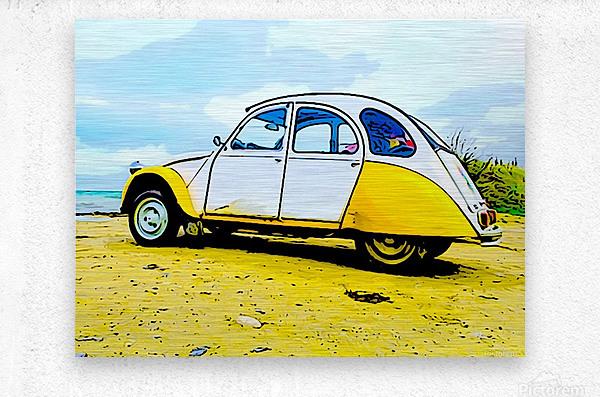 Beach Car  Metal print