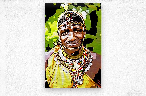 African  Metal print