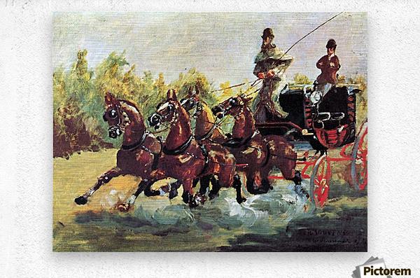 Count Alphonse de Toulouse-Lautrec  Metal print