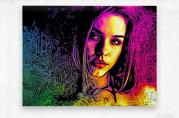 MultiColor Girl  Metal print