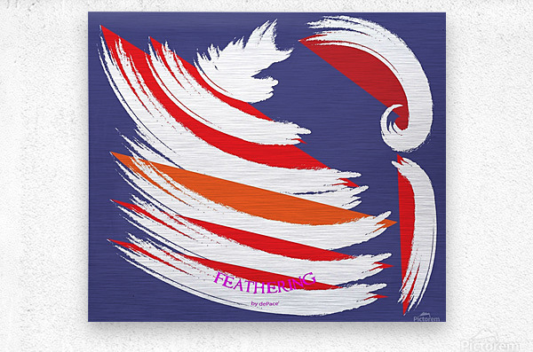 FEATHERING BY DEPACE  Metal print
