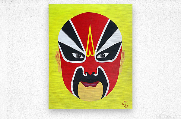 Zhuan Zhu - Chinese Opera Mask  Metal print
