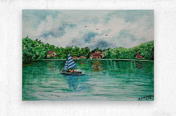 Naini lake_DKS  Metal print