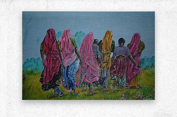 Village Women_DKS  Metal print