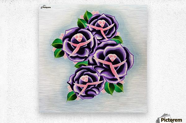 Roses  Impression metal