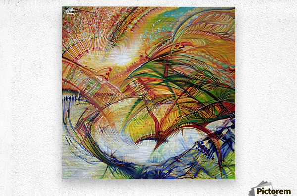 Feathers of the Phoenix  Metal print