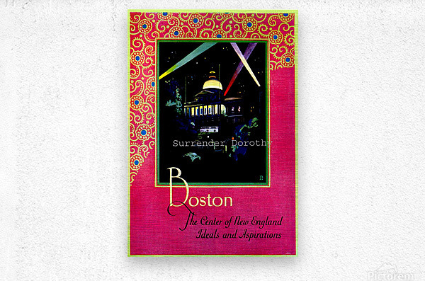 Boston USAEdited  Metal print