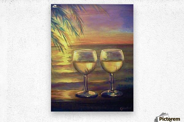 2  White Wines  Metal print