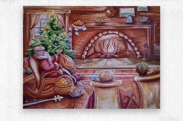 Santa Claus. Christmas and New year  Metal print