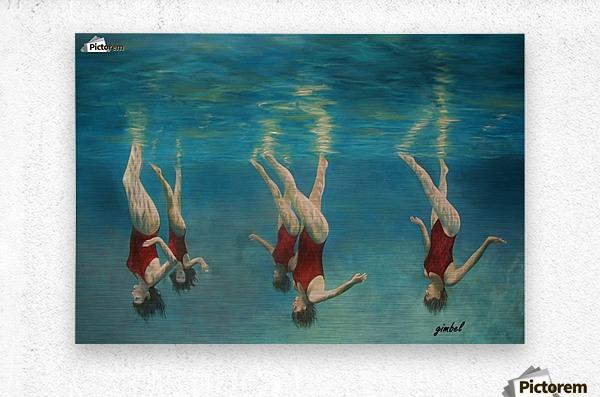 swimmers  Metal print