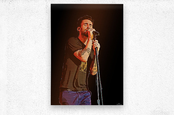 Adam Levine and Maroon 5 performed at The Forum in Inglewood Calif     Metal print