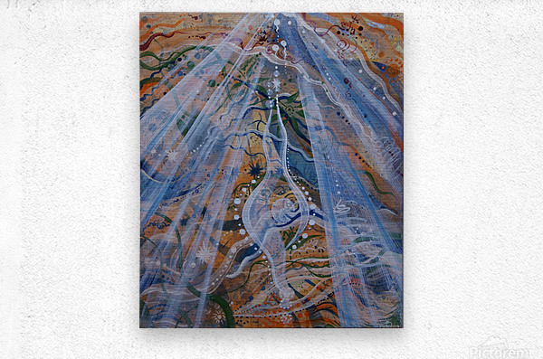 The magician Birth Breakthrough Freedom Protection  Metal print