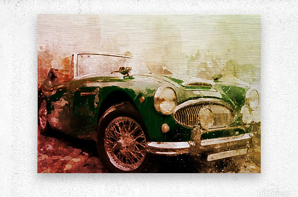 Car vintage  Metal print