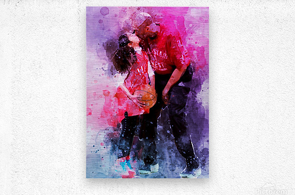 Gianna and kobe bryant  Metal print