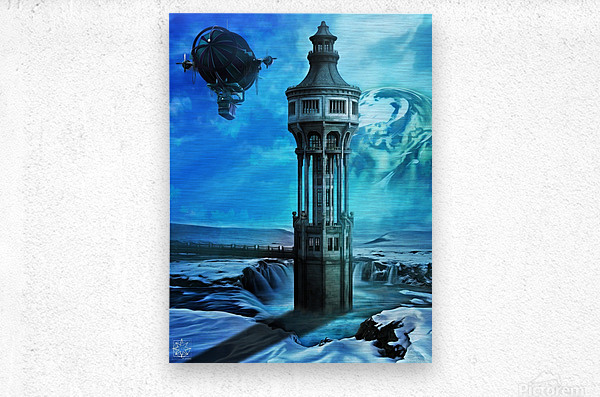 The North Tower  Metal print