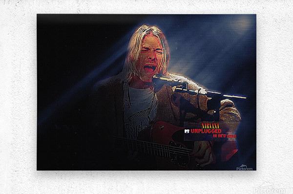 Kurt Cobain Live MTV Unplugged  Metal print