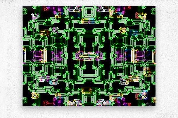 Colorful PIPES  Metal print