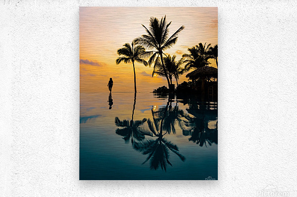 Relaxation Sunset  Metal print