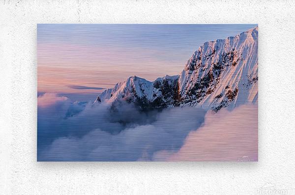Snowy Peaks  Metal print