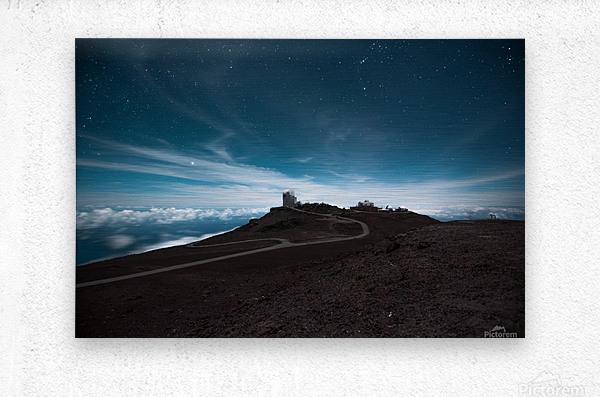 Haleakala at Night  Metal print