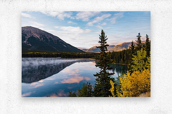 Mountains and Water  Metal print