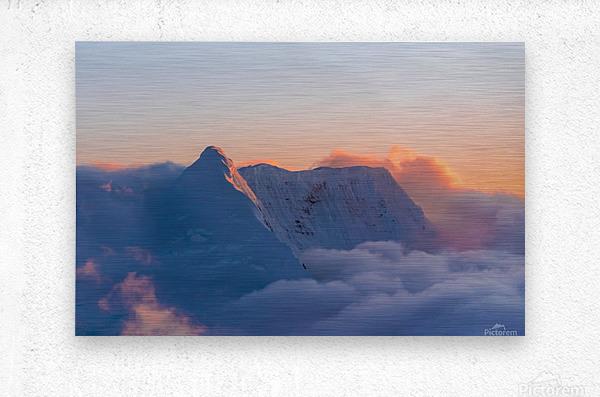Pastel Peak  Metal print