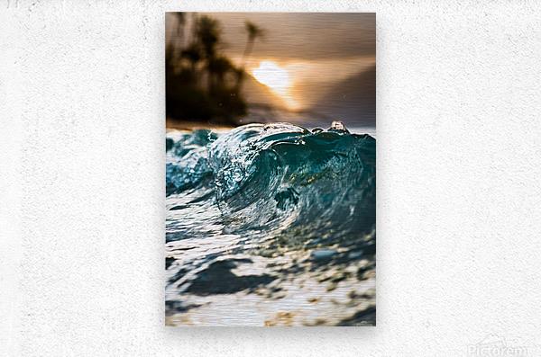 Glassy Wave  Metal print
