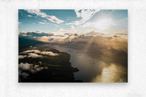 Maui From Above  Metal print